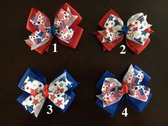 Memorial Day, 4th of July, Labor Day Hair Bow by CreationsByDMPN on Etsy