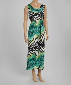 Green Palm Silk-Blend Maxi Dress by Julia by Sarah K. #zulily #zulilyfinds http://www.zulily.com/invite/kripley070