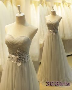 Tulle prom dress, sweetheart dress for prom 2017