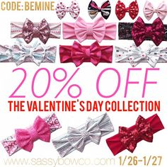 Enjoy 20% off the Valentine's Day collection while supplies last with code ❤️BEMINE❤️ expires 1/27/16 11:59 CST ✨ 1/27/16 is the last day to order for Valentine's Day delivery