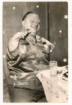 Real Photo rppc Circus Freak, Sealo (Seal Boy) autographed Ringling Brothers Fla