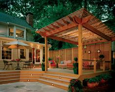 Pergolas - Traditional - Deck - designed and built by Atlanta Decking & Fence Co., Inc. | found on houzz.com