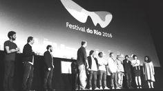 Luísa Sequeira na apresentação do filme OS CRAVOS E A ROCHA no festival de cinema do Rio 2016 no cinema Odeon.