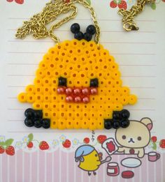 Chicken perler bead necklace by BecsKittysCreations