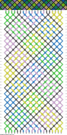 This is cray and would take forever but it is cool Checkerboard Friendship Bracelet Pattern