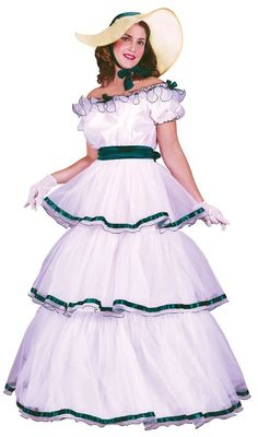 Adult Southern Belle Scarlett O'hara Costume Dress Ohara - S/M 2-8, M/L 10-14 - | Clothing, Shoes & Accessories, Costumes, Reenactment, Theater, Costumes | eBay!