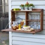 Perfect bar for the garden at home