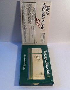 Virginia Slims 120's Menthol Sample Pack 1985 Philip Morris Unopened Cigarettes