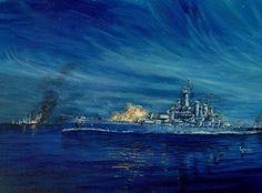 Battleship duel off Guadalcanal