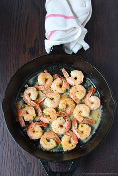 Garlic Chive Shrimp on cookingwithruthie... cookingwithruthie...