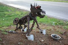 yard art from junk - Bing Images