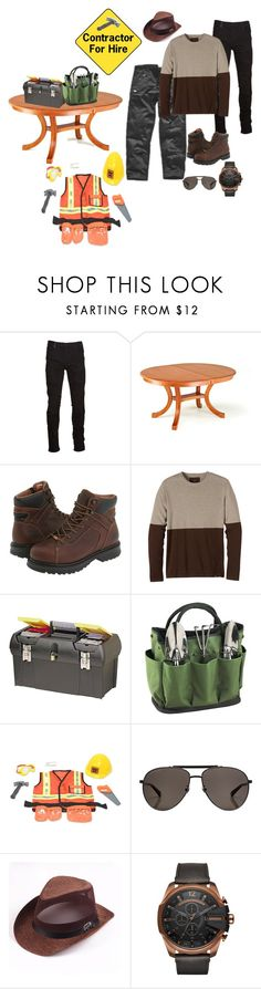 """Untitled #555"" by ruffin777 ❤ liked on Polyvore featuring Marcelo Burlon, Dickies, DutchCrafters, Timberland PRO, prAna, Stanley, Picnic at Ascot, Gucci, Diesel and men's fashion"