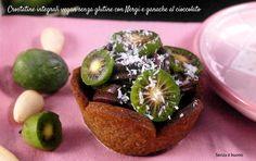 Crostatine integrali vegan senza glutine con Nergi e ganache al cioccolato http://www.senzaebuono.it/crostatine-integrali-nergi-cioccolato-vegan-senza-glutine/