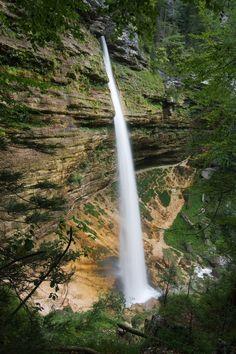 Peričnik Falls in Triglave National Park - Slovenia