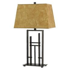 (CLICK IMAGE TWICE FOR UPDATED PRICING AND INFO) #home #homeimprovement #homedecor #lighting #lamps #lights #lightandfixture #tablelamps   see more table lamps at http://www.zbrands.com/Lamps-C40.aspx -  Philips Forecast Lighting Lamps - Cal Lighting Lamps - Trona Metal Table Lamp in Iron