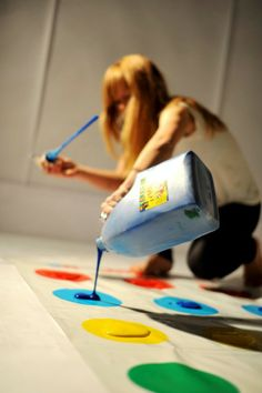 Play twister but with paint.