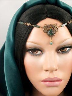 Nyhla  Elven Renaissance Maiden Moss Agate Gemstone