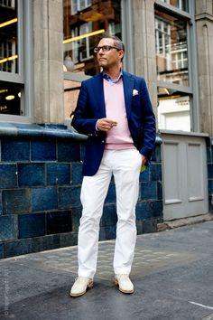 A winning blazer/pants combo.