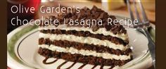 """Olive Garden's Chocolate Lasagna Recipe.......I think I will try to make this with my """"whipped Cream"""" frosting, but it looks awesome!!  mascarpone frosting would be killer as well."""
