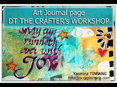 Discover new mediums in an Art Journal Page by Yasmina TINSANG | The Crafter's Workshop Blog
