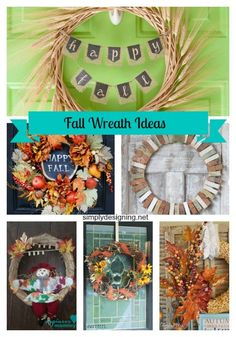 Fall Wreaths featured on Simply Designing