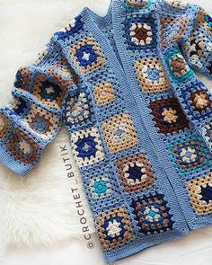 🙏 Malum hafta başı, işler…gü… New week🎀 … Come peacefully, health . Crochet Coat, Crochet Quilt, Crochet Blocks, Crochet Cardigan, Crochet Granny, Cute Crochet, Crochet Clothes, Crochet Patterns, Crochet Fashion