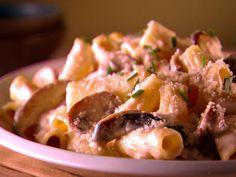 Rigatoni with Creamy Mushroom Sauce Recipe : Giada De Laurentiis : Food Network - FoodNetwork.com