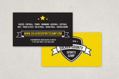Sports Camp Business Card