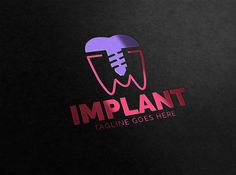 Implant Dental Logo by eSSeGraphic on @creativemarket