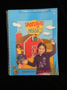 Spotlight on Music Piano Accompaniments, Grade K  Music Song Book, LN Condition #Textbook