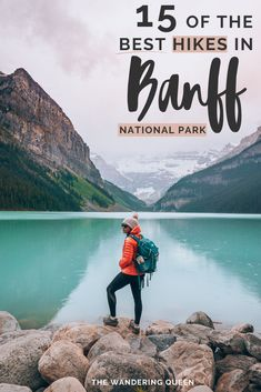 Best Hikes in Banff National Park Canada Check out the most beautiful trails in the Canadian Rockies! This guide to the best hikes in Banff has all info you need, including recommended outfit, lakes to visit, and much more for your adventure! Banff Hiking, Go Hiking, Hiking Trails, Hiking Style, Hiking Food, Mountain Hiking, Hiking Gear, Vancouver, Toronto