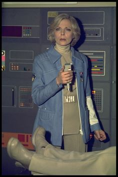 Babs as Dr. Helena Russell, MD in Space: 1999...  Publicity shot 12