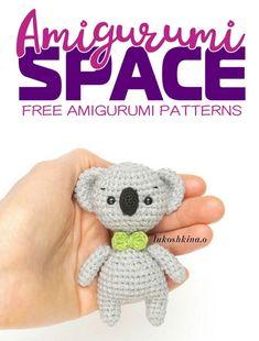 Try this easy FREE amigurumi koala pattern! To create this crochet koala you'll need mm crochet hook and YarnArt Jeans yarn. Amigurumi Toys, Amigurumi Patterns, Crochet Patterns, Crochet Toys, Free Crochet, Easter Bunny Crochet Pattern, Teddy Bear, Space, Koalas