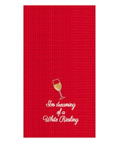 This White Riesling Towel - Set of Two is perfect! #zulilyfinds