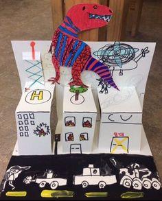 초3 초2 초2 초2 초2 초2 초2 공룡 화석과 모기 만들기!^^ 그리고 공룡이 나타났어요~~!!!!!!!! 주제를 연... Art Lessons For Kids, Art For Kids, Crafts For Kids, Painting For Kids, Drawing For Kids, Up Book, Book Art, 2nd Grade Art, Art Curriculum
