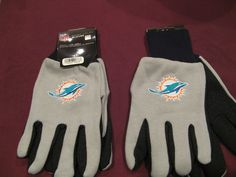 TWO (2) PAIRS OF MIAMI DOLPHINS, ALL PURPOSE SPORT UTILITY GLOVES #MiamiDolphins