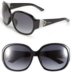2aa7705f5ea Christian Dior  Special Fit  Oversized Crystal Temple Sunglasses available  at