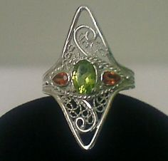 handcrafted sterling silver filigree ring by HauteWiredJewelry, $135.00