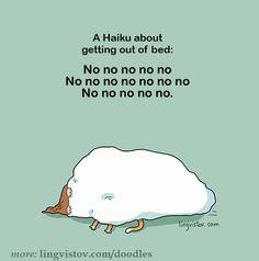 Doodles - Lingvistov Cartoon Memes, Funny Cartoons, Funny Comics, Haiku, Lol Text, I Love Sleep, Laughter Therapy, Funny Doodles, Good Morning Texts