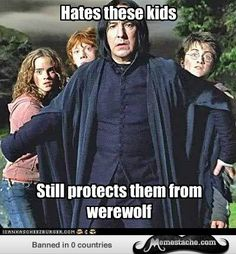 So i am not the only one who noticed that Snape's first instinct was to get in…