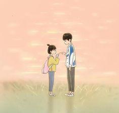 Cute Couple Wallpaper, Love Wallpaper, Cartoon Wallpaper, Cute Couple Cartoon, Cute Couple Art, Anime Couples Drawings, Cute Anime Couples, A Love So Beautiful, Cute Love