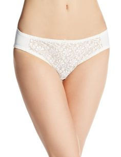 Carnival Womens Petite-Plus-Size Tuxedo Lace Center Microfiber low-rise panty, Ivory, Large. Cotton lined gusset. Coordinates with styles 137 237 337 and 437.