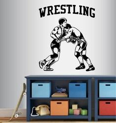 Wall Vinyl Decal Home Decor Art Sticker Wrestling Match Wrestlers Sportsmen Sports Gym Home Fitness Room Removable Stylish Mural Unique Design In-Style Decals http://www.amazon.com/dp/B010TUCGUW/ref=cm_sw_r_pi_dp_aL7Rwb1247VC7