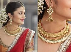 Steal This Look: South Indian Bridal Inspiration From Alia Bhatt In 2 States Bridal Accessories, Wedding Jewelry, Gold Jewelry, Indian Bridal Wear, Indian Wear, Dress Indian Style, South Indian Bride, Alia Bhatt, Wedding Looks