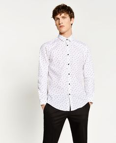 Image 2 of SLIM FIT LIGHTNING SHIRT from Zara