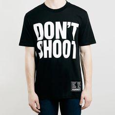 Katharine Hamnett's political slogan shirts return exclusively to Topman. £35