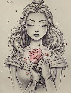 Immagine di disney, belle, and draw