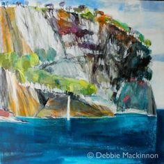 Shoreline, Ocean, Australia, contemporary landscape, painting, Debbie Mackinnon, artist