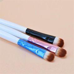 [Visit to Buy] Fashion Design Eyeshadow Makeup Brushes New Women Cosmetic Tool Aluminum Tube+Synthetic Fiber Makeup Brush pinceis de maquiagem #Advertisement