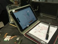 With the ISKN (France) iSketchnote, you can write on a real piece of paper using a real pen, while still digitizing it in real-time on a tablet or PC as you draw. $199